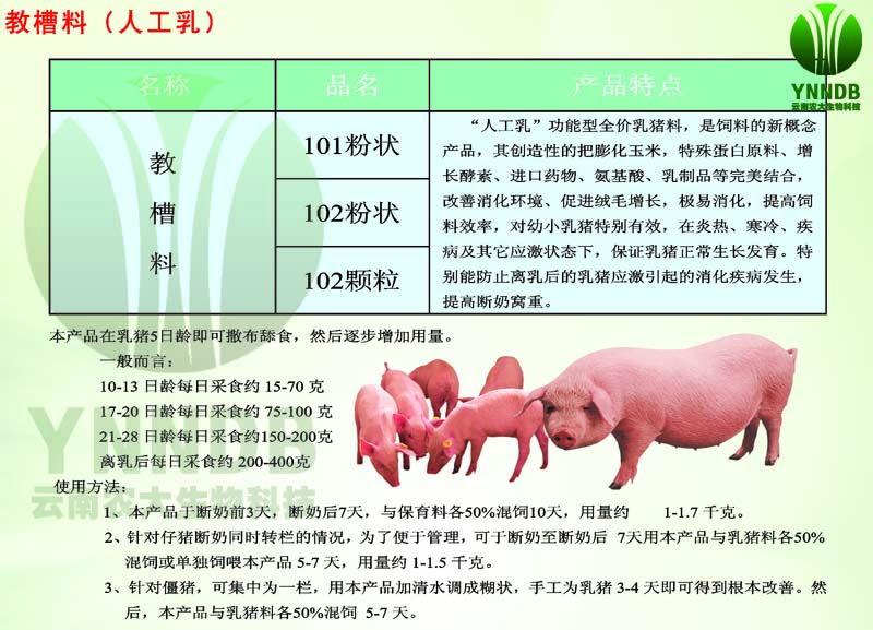 猪-教槽料(人工乳)
